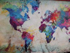 Splattered Map Canvas