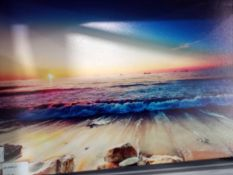 Sunset Over The Sea Canvas