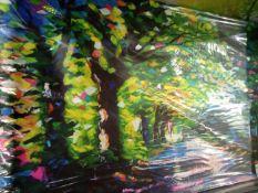 Multicolor Tree Setting Canvas