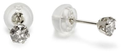 Platinum diamond earrings RRP £220 (m-sanaipd10)