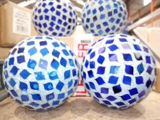 Lot To Contain 4 Blue Around Your Fire Ball Decorations