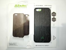 Lot To Contain 5 Evutec Iphone 6/6S Black Apricot Wood Phone Cases