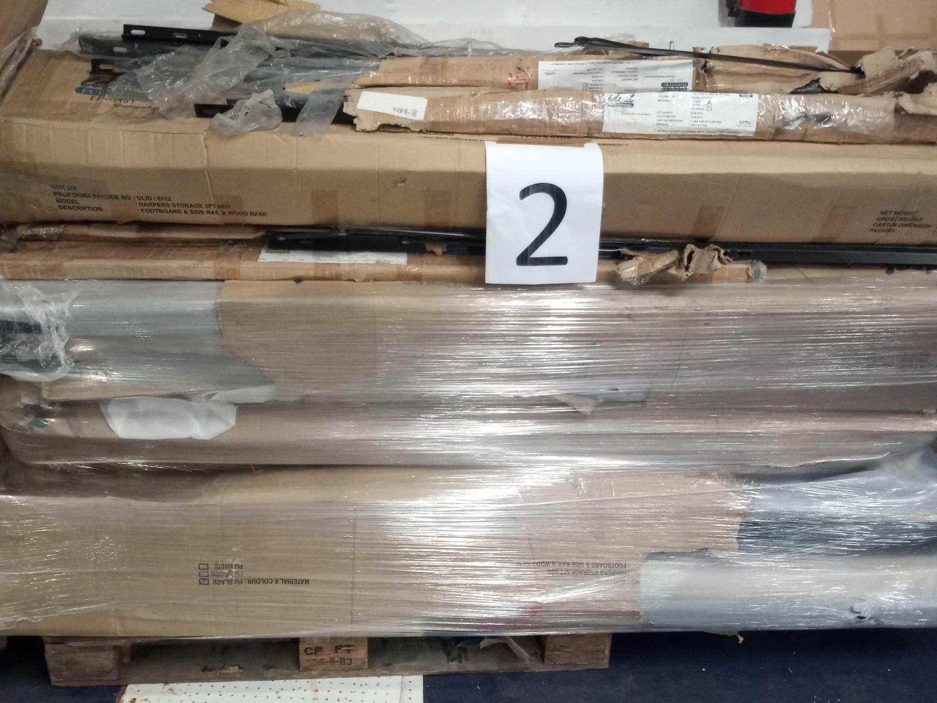 RRP £400 Pallet Of Storage Bed Part Lots