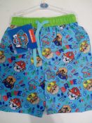 RRP £145 Brand New Paw Patrol And Spiderman Surf Shorts