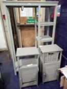 Combined RRP £200 Lot To Contain 1 Grey Open Wardrobe And 2 Grey Storage Cabinets