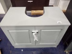 RRP £120 Lot To Contain Under The Sink Vanity Unit In Grey