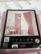 Combined RRP £100 Lot To Contain 2 Pairs Of Fully Lined Curtains