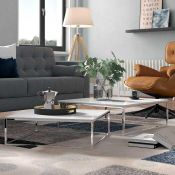 Rrp £155 2 Piece Coffee Table Set