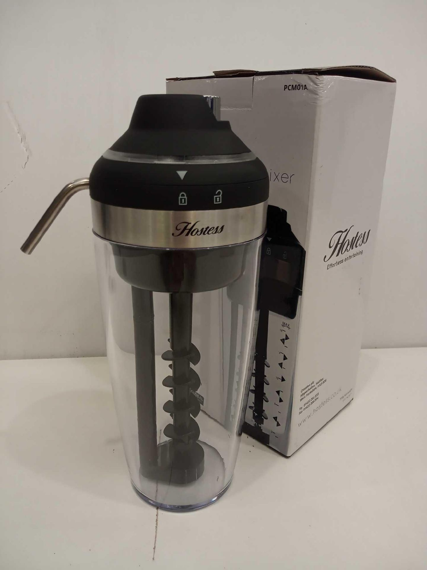 Lot 776 - Rrp £30 Boxed Hostess Pump Cocktail Mixer