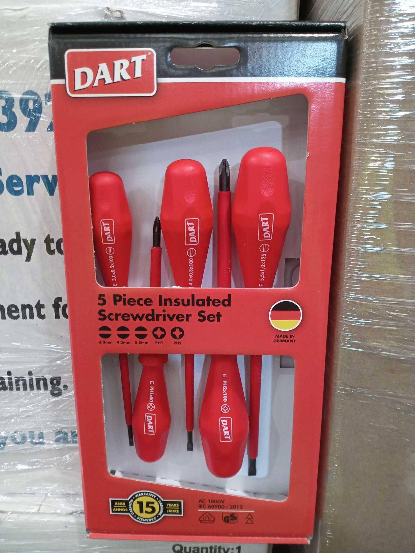 Lot 269 - RRP £30 Boxed Brand New 5 Pcs Insulated Screwdriver Sets