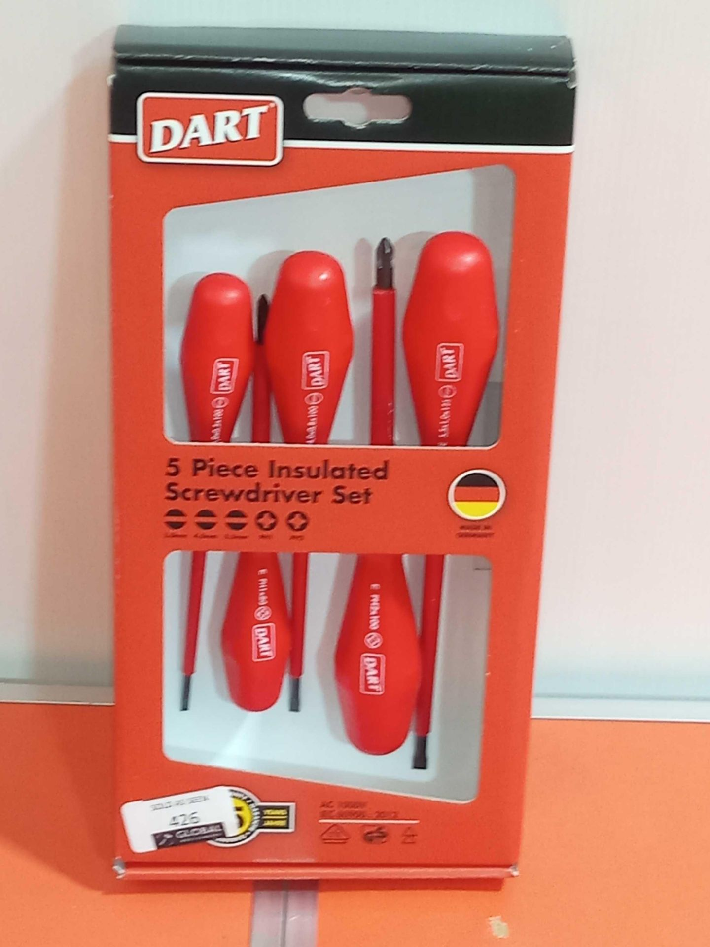 Lot 426 - Rrp £30 Boxed Brand New Insulated Screwdriver Set
