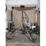 RRP £100 Endon Stainless Steel 5 Light Ceiling Light
