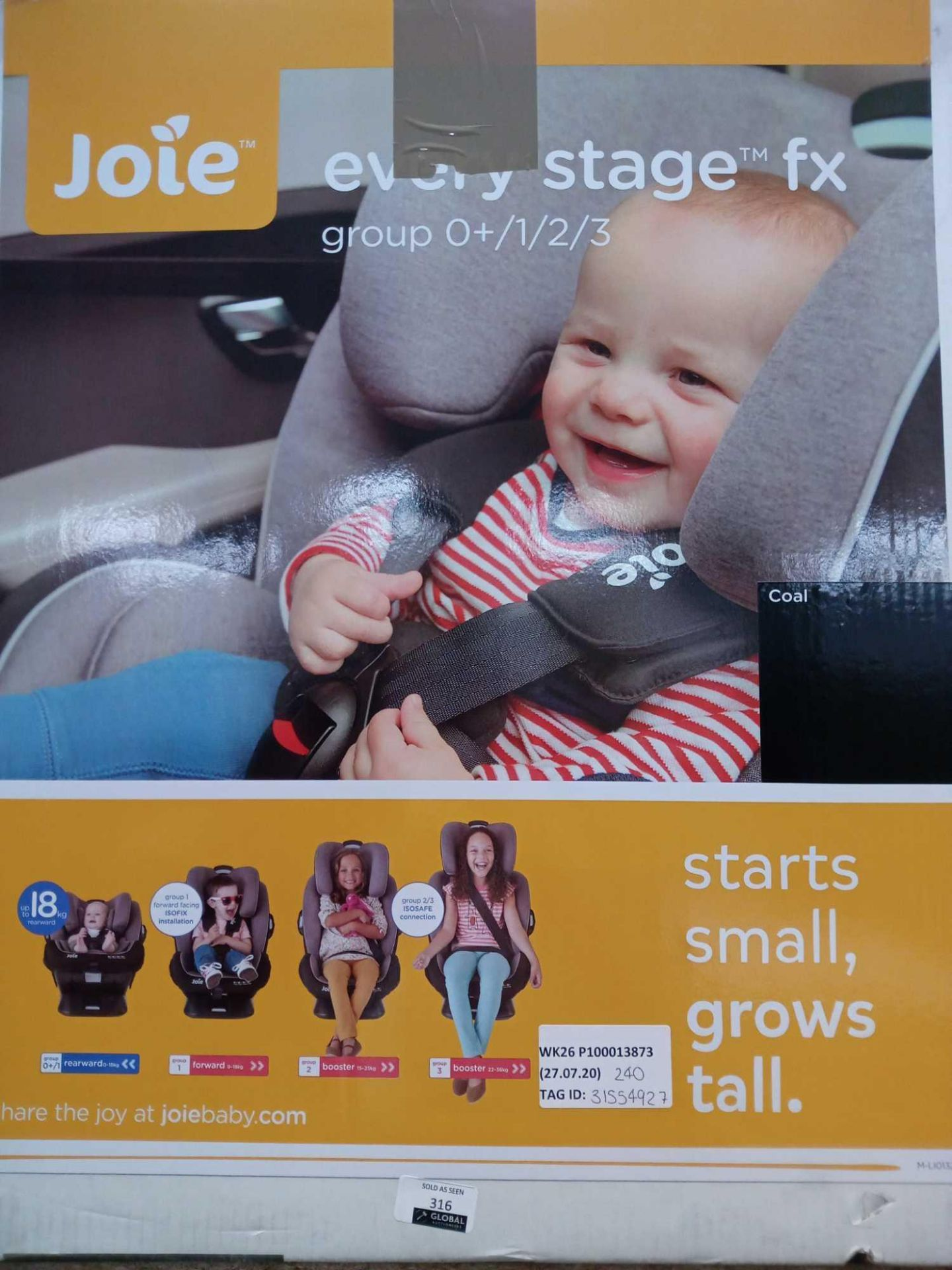Lot 316 - RRP £240 Lot To Contain A Jole Every Stage Car Seat