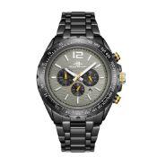 RRP £550 Henry Bridges Mens Millennium Grey Watch, 22mm Strap Width, Folding Clasp Fastening