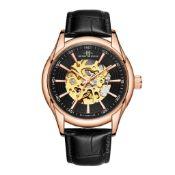 RRP £550 Henry Bridges Infinity Rose Watch, 22mm Strap Width, Black Leather Strap & Buckle