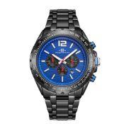 RRP £550 Henry Bridges Mens Millennium Blue Watch, 22mm Strap Width, Folding Clasp Fastening
