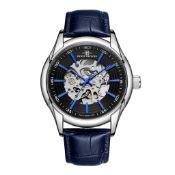 RRP £550 Henry Bridges Infinity Blue Watch, 22mm Strap Width, Dark Blue Leather Strap & Buckle