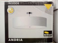 RRP £100. Boxed Andria Semi-Flush Ceiling Light Fabric Lampshade.