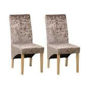 RRP £140. Boxed Sharpsville Upholstered Dining Chair X2