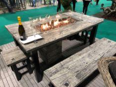 RRP £2800 Brand New Excalibur Designer 6 Piece Garden Set To Include Concrete Resin Wooden Effect F