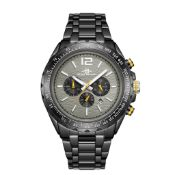 RRP £550 Henry Bridges Mens Millennium Grey Watch, 22mm Strap Width, Folding Clasp Fastening