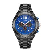 RRP £550 Henry Bridges Mens Millennium Blue Watch, 22mm Strap Width, Folding Clasp Fastening