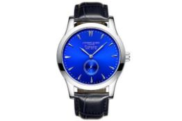 RRP £200 Bohemian Blue Dial Watch Complemented By Steel Teardrop Indices & Smokey Blue High Grade