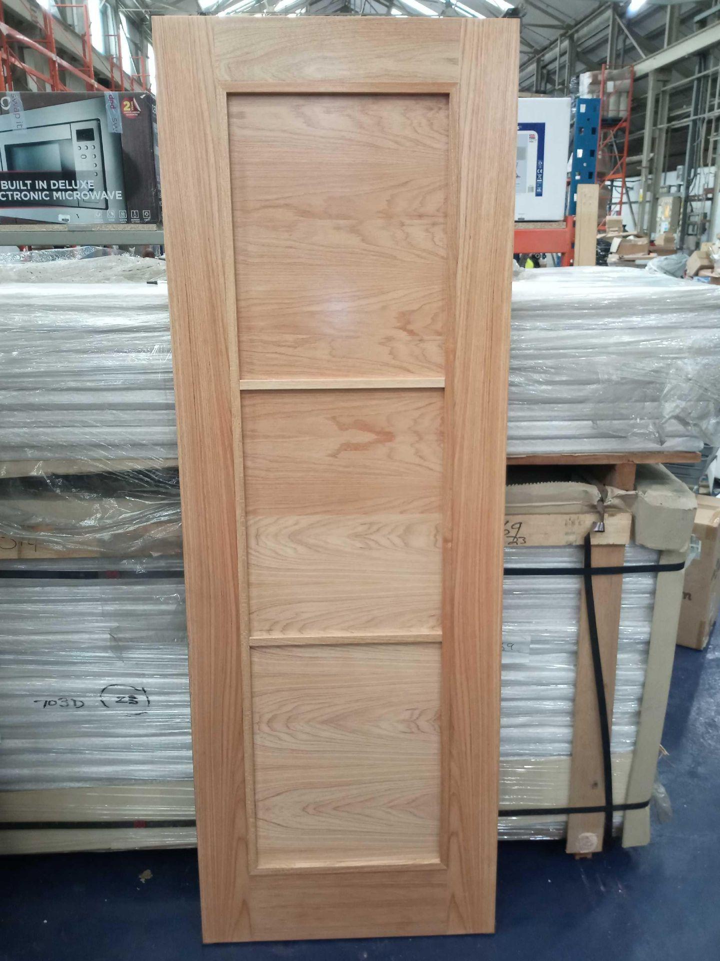 Rrp £4025 Brand New 3 Panel Solid Doors