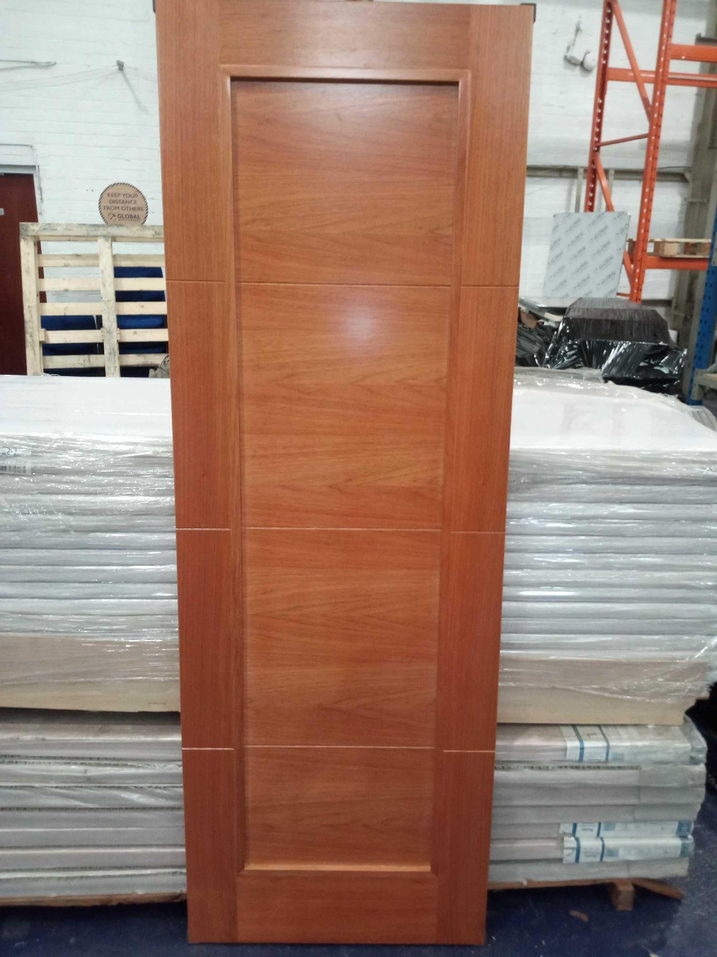Rrp £4200 Brand New 4 Panel Solid Cherry Hardwood Doors