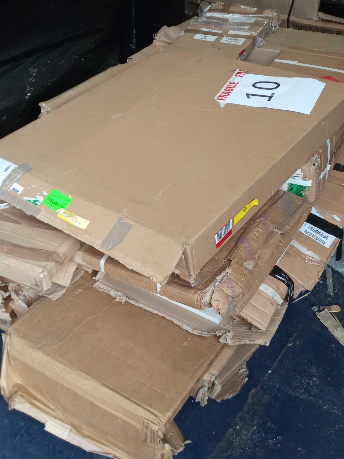 Rrp £300 Pallet Of Flatpack Furniture Part Lots