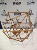 Rrp £300 Boxed Drizella 4 Light Gold Pendant