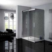Rrp £300 Atlas 1400 Slider Clean Plus Single Side Chrome Finish Shower Door (H1950)