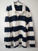 RRP £45 John Lewis Mens Wide Stripe Rugby Shirt
