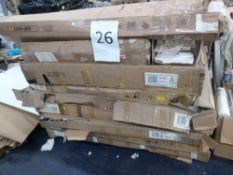 Pallet To Contain A Large Assortment Of Flat Pack Furniture Part Lots