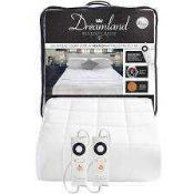 Rrp £95 Bagged Dreamland Intelliheat Electrically Heated Boutique Hotel Collection 200 Thread Count