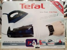 Rrp £150 Boxed Tefal Fasteo Sv6050 Steam Generating Iron