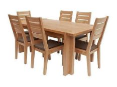 RRP £699, Sourced From Harveys, Claremount Dark Oak Dining Table.