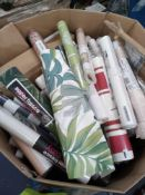 RRP £2840 Pallet To Contain 142 Assorted Single Rolls Of High Branded Designer Wall Paper To Include