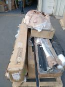 RRP £300 Pallet To Contain A Large Assortment Of Boxed Assorted Flat Pack Furniture Part Lots To