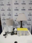 Rrp £200 Lot To Contain 6 Assorted Designer Lighting Items To Include A Contact Touch Control Lamp A