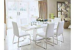 RRP £699 Sourced From Harveys Nova High Gloss Extending Dining Table.