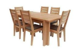 RRP £699, Sourced From Harveys Furniture, Boxed Claremount Dark Oak Dining Table (Chairs Not Include