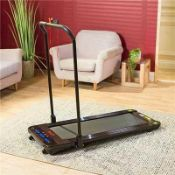 Rrp £330 Boxed Linear Strider Premium Folding Walking Treadmill With Multiple Speed Settings And Dig