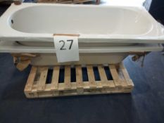 Pallet To Contain 2 White Designer Bath Tubs