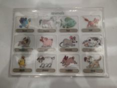 RRP £140 Lot To Contain 19 Brand New Willis Toys Educational Animals Vocabulary Board Packs