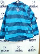 RRP £540 Lot To Contain 27 Brand New Muddy Puddles 11-12Y Puddlepac Striped Jacket
