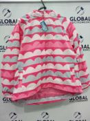 RRP £460 Lot To Contain 23 Brand New Muddy Puddles 11-12Y Pink Wave Puddlepac Jackets