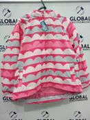 RRP £320 Lot To Contain 17 Brand New Muddy Puddles 11-12Y Pink Wave Puddlepac Jackets