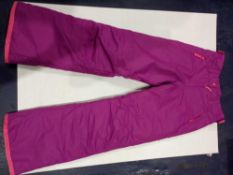 RRP £100 Lot To Contain 5 Brand New Pairs Of Dark Pink Muddy Puddles Size 11-12Y Ski Trousers