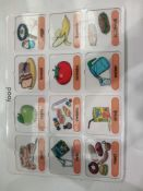 RRP £150 Lot To Contain 20 Brand New Willis Toys Educational Food Vocabulary Board Packs